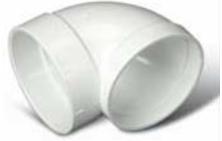 Broan® White 90° Short Elbow-V382XS