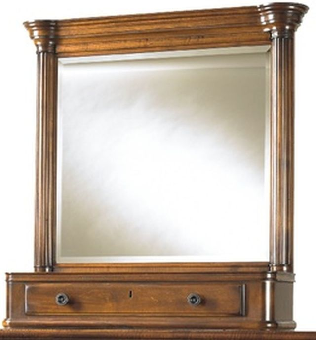 Durham Furniture George Washington Architect Barley Dressing Mirror-501-189