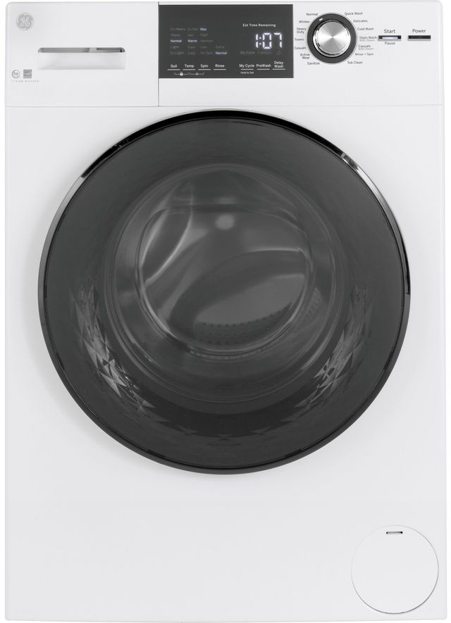 Laveuse à chargement frontal GE® de 2,9 pi³ - Blanc-GFW148SSMWW