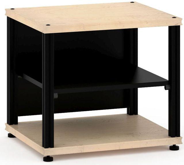 Salamander Designs® Synergy Single 20 AV Cabinet-Natural Maple/Black-SU20M/B