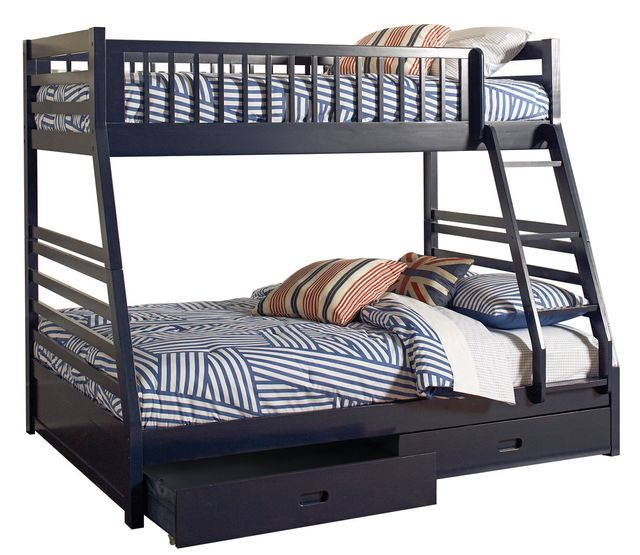 Coaster® Ashton Navy Blue Twin-Over-Full Youth Bunk Bed-460181