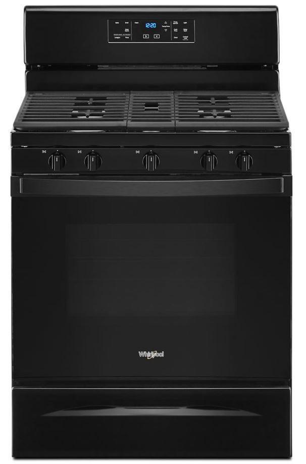 "Whirlpool® 30"" Black Free Standing Gas Range-WFG525S0JB"
