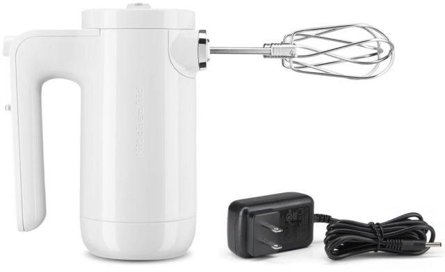 KitchenAid® 7 Speed White Cordless Hand Mixer-KHMB732WH
