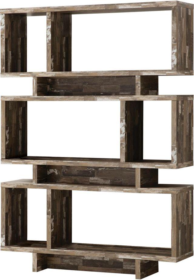 Coaster® CoasterEveryday Salvaged Cabin 3-Tier Geometric Bookcase-800846