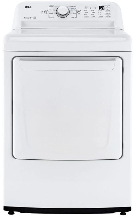 LG 7.3 Cu. Ft. White Front Load Gas Dryer -DLG7001W