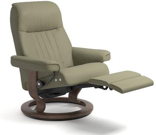 Stressless® by Ekornes® Crown Medium Leg Comfort Recliner-1297715