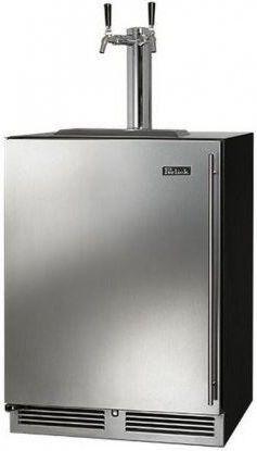 Perlick® Signature Series 5.2 Cu. Ft. Stainless Steel Beer Cooler/Kegerator-HP24TS-3-1L2