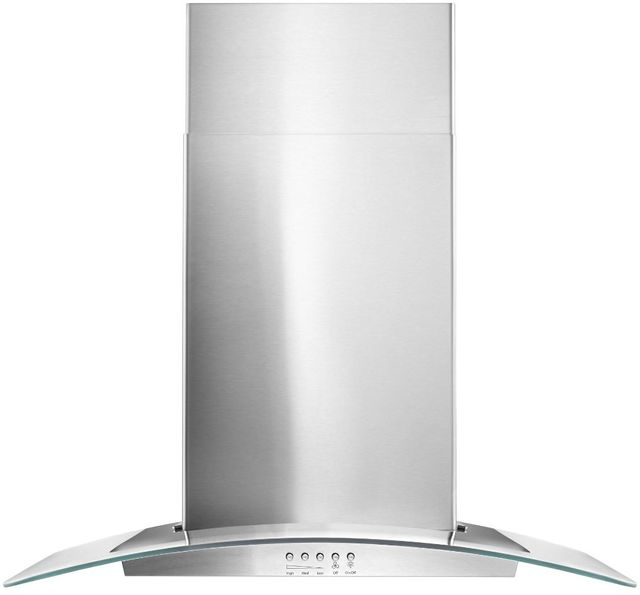 """Maytag® 36"""" Stainless Steel Concave Glass Wall Mount Range Hood-WVW51UC6FS"""