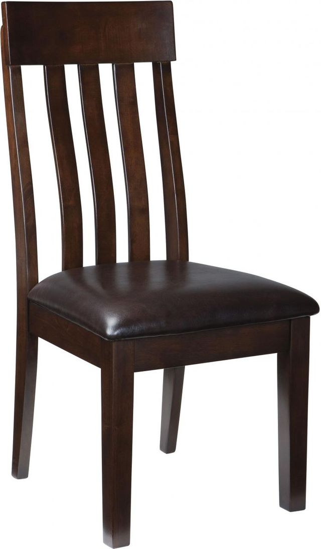 Signature Design by Ashley® Haddigan Dark Brown Dining Upholstered Side Chairs (2pc)-D596-01