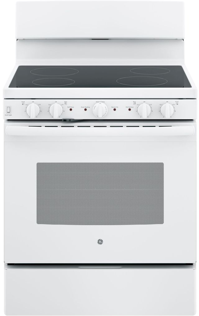 "GE® 30"" Free Standing Electric Range-White-JB480DMWW"
