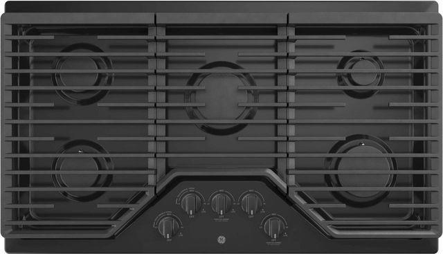 """GE® 36"""" Built-In Gas Cooktop-Black-JGP5036DLBB"""