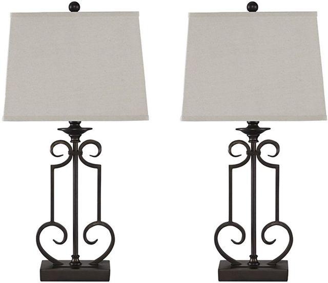 Ashley® Ainslie Set of 2 Metal Table Lamps-L208034