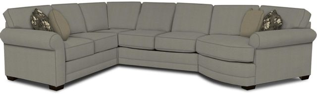 England Furniture Co. Brantley 4 Piece Culpepper Cement/Alvarado Mineral/Desire Mushroom Sectional-5630-28-22-43-95+8612+6352+8601