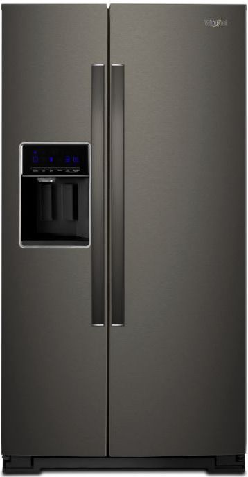 Whirlpool® 28 Cu. Ft. Side-by-Side Refrigerator-Black Stainless Steel-WRS588FIHV