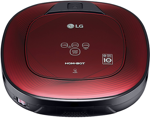 LG Hom-Bot Square Robotic Vacuum-Ruby Red-VR65502LV