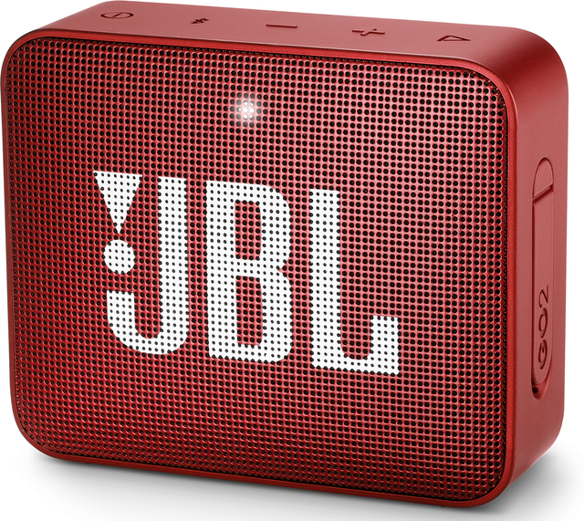 JBL® GO 2 Portable Bluetooth Speaker-Ruby Red-JBLGO2RED