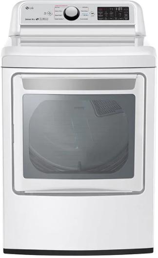 Sécheuse électrique LG® de 7,3 pi³ - Blanc-DLEX7250W