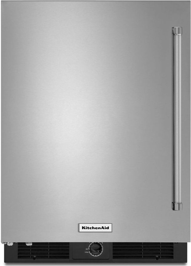 KitchenAid® 4.9 Cu. Ft. Stainless Steel Under The Counter Refrigerator-KURL104ESB