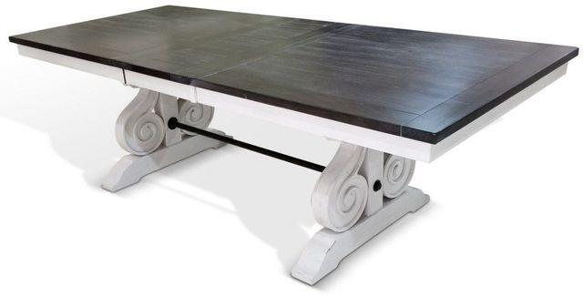 Sunny Designs Carriage House European Cottage Trestle Table-1041EC