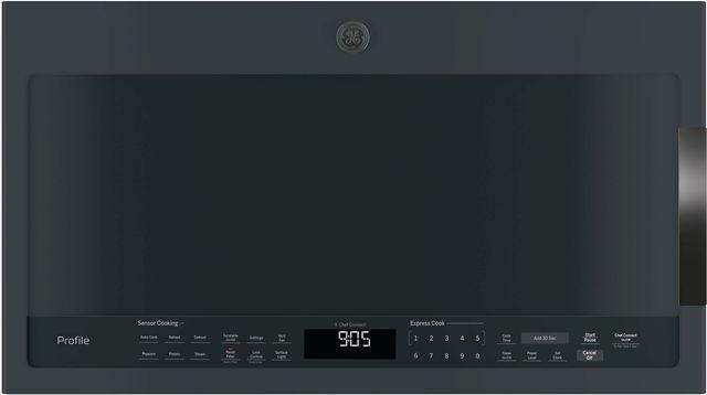 GE Profile™ 2.1 Cu. Ft. Black Slate Over The Range Sensor Microwave Oven-PVM9005FMDS