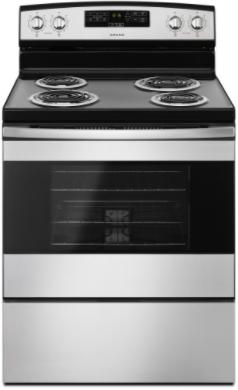 Cuisinière électrique autoportante de 30 po Amana® de 4,8 pi³ - Acier inoxydable-YACR4303MFS