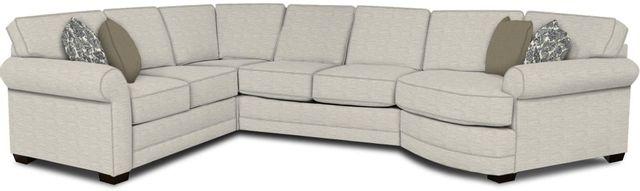 England Furniture Co. Brantley 4 Piece Culpepper Snow/Alvarado Mineral/Bovina Graphite Sectional-5630-28-22-43-95+8613+8604+8601