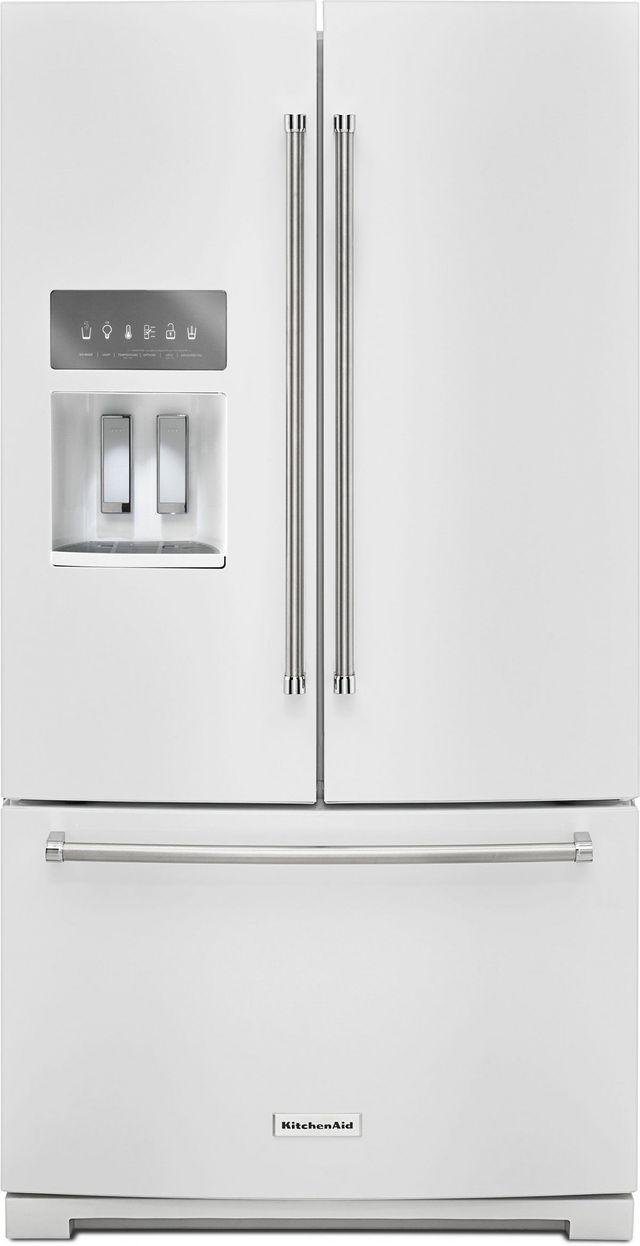 KitchenAid® 26.8 Cu. Ft. White French Door Refrigerator-KRFF507HWH
