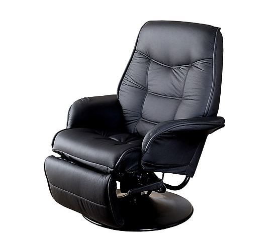 Coaster® Black Swivel Recliner With Flared Arm-7501