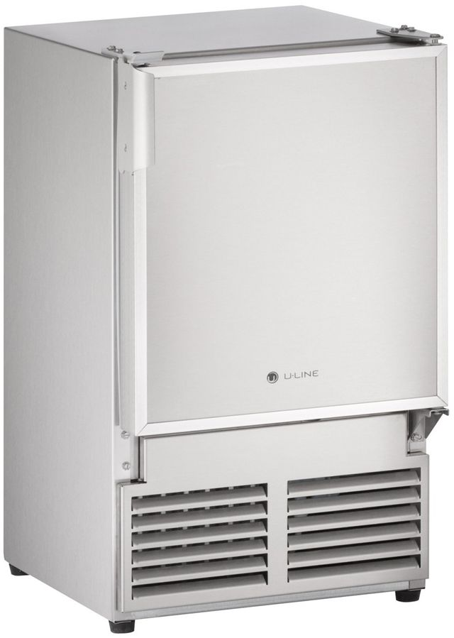 """U-Line® Marine Series 14"""" Stainless Steel Ice Maker-SS1095NF-03A"""