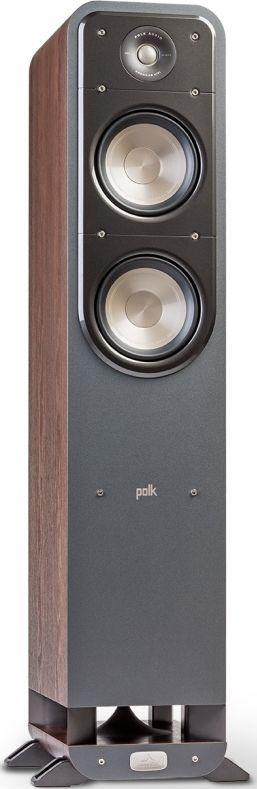 "Polk Audio® Signature Series S55 Classic Brown Walnut 6.5"" Home Theater Tower Speaker-AM9631"