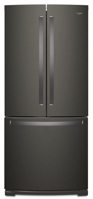 Whirlpool® 20 Cu. Ft. Fingerprint Resistant Black Stainless French Door Refrigerator-WRF560SFHV