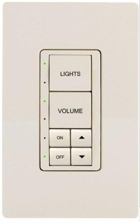Crestron® Cameo® Express Almond Smooth infiNet EX® 230V Wireless Keypad-INET-CBDEX-230-E-A-S