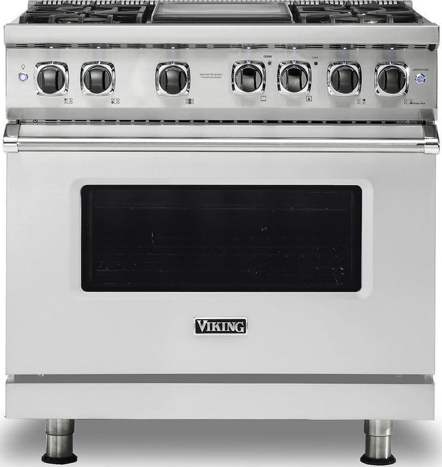 """Viking® Professional 5 Series 36"""" Pro Style Dual Fuel Range-Stainless Steel-VDR5364GSS"""