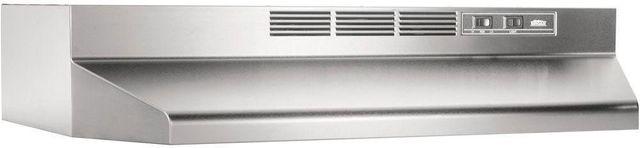 "Broan® 41000 Series 36"" Stainless Steel Ductless Under Cabinet Range Hood-413604"