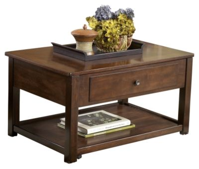 Signature Design by Ashley® Marion Dark Brown Lift Top Cocktail Table-T477-9