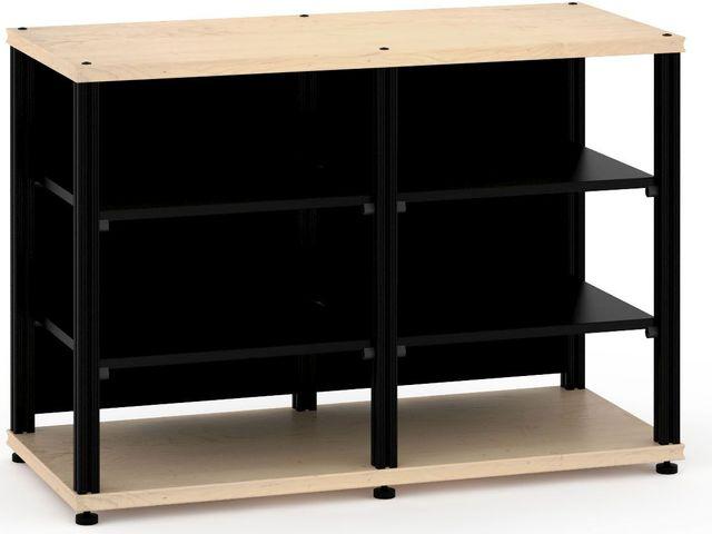 Salamander Designs® Synergy Twin 30 AV Cabinet-Natural Maple/Black-SN30M/B
