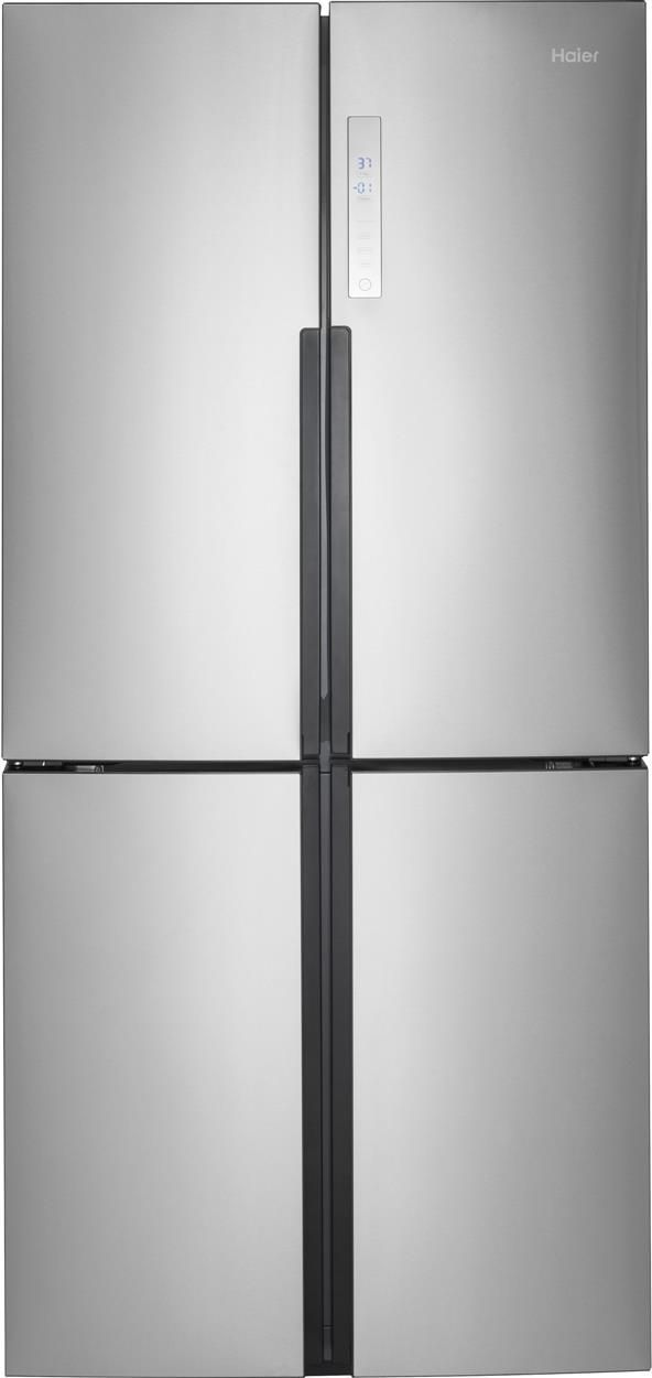 Haier 16.4 Cu. Ft. Stainless Steel Counter Depth French Door Refrigerator-HRQ16N3BGS