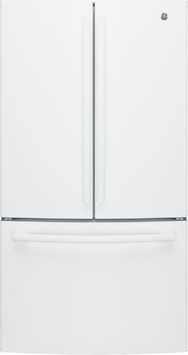 GE® 27 Cu. Ft. French Door Refrigerator-White-GNE27JGMWW