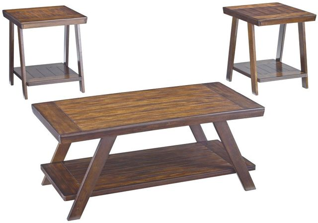Signature Design by Ashley® Bradley Burnished Brown Occasional Table Set (3/CN)-T392-13
