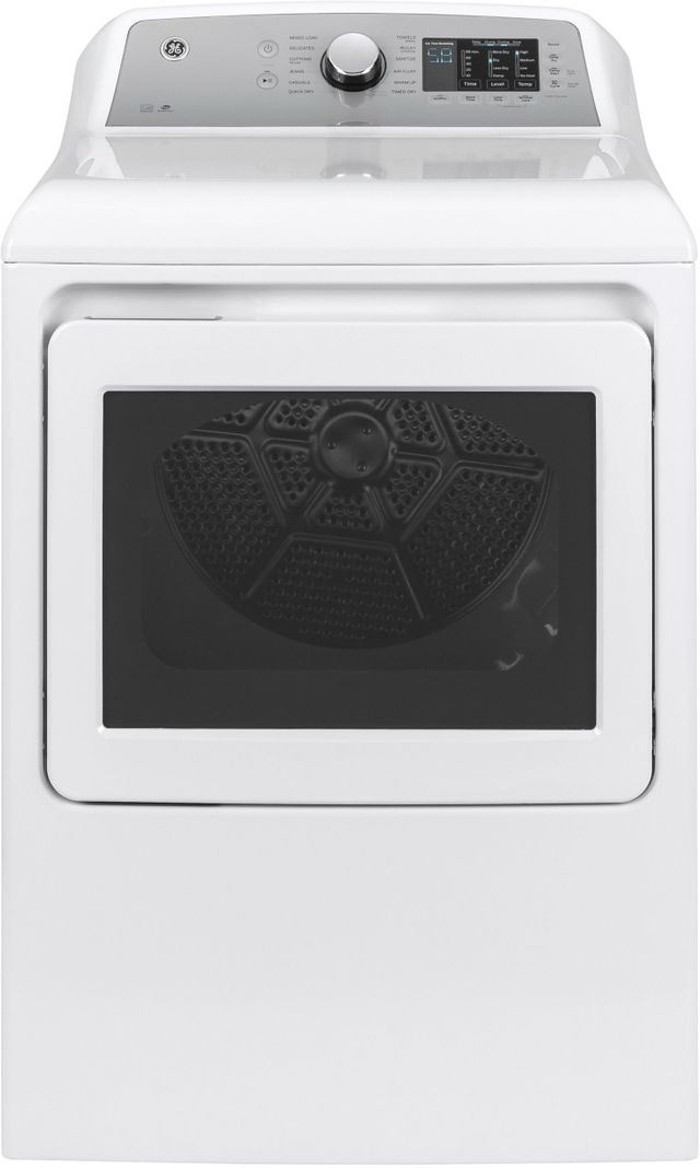 GE® 7.4 Cu. Ft. White Front Load Electric Dryer (S/D)-GTD72EBSNWS SD
