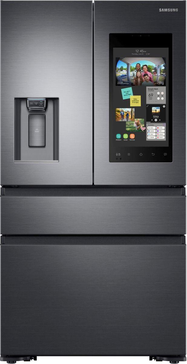 Samsung 22 Cu. Ft. Counter Depth French Door Refrigerator-Fingerprint Resistant Black Stainless Steel-RF23M8570SG