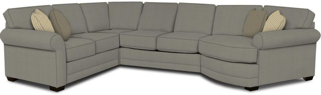 England Furniture Co. Brantley 4 Piece Culpepper Cement/Alvarado Mineral/Oh Gee Brownstone Sectional-5630-28-22-43-95+8612+7755+8601