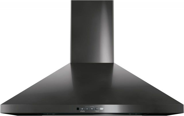 """GE® 30"""" Wall Mount Pyramid Chimney Hood-Black Stainless-JVW5301BJTS"""