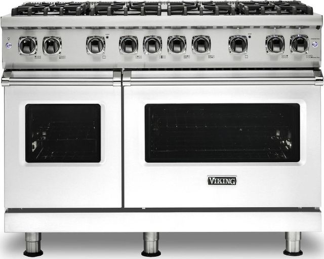 "Viking® Professional 5 Series 48"" Pro Style Dual Fuel Range-White-VDR5488BWH"