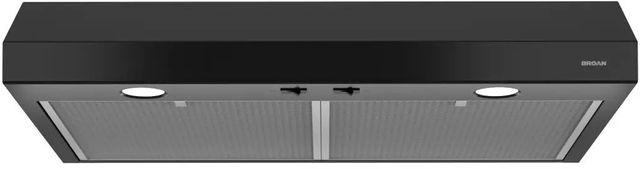 "Broan® Glacier BCSD1 Series 24"" Under Cabinet Range Hood-Black-BCSD124BL"