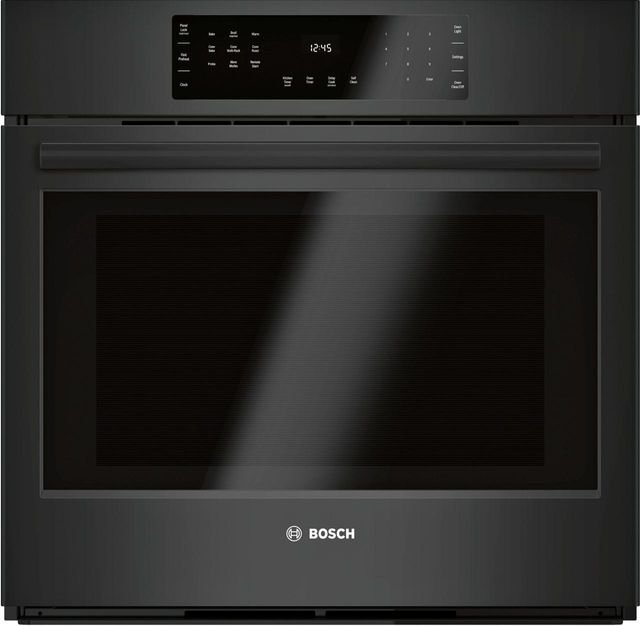 """Bosch 800 Series 30"""" Black Electric Single Oven Built In-HBL8463UC"""