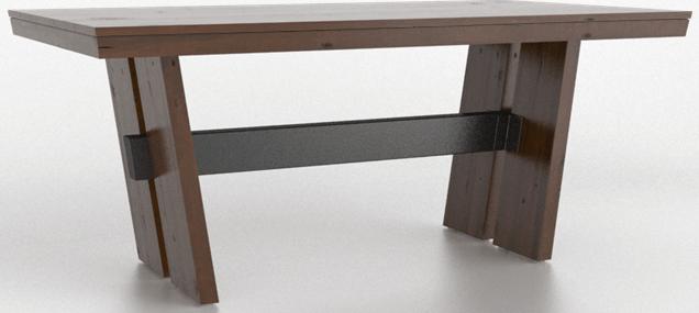 Table en bois rectangulaire, brun, Canadel®-TRE040721919EERNF