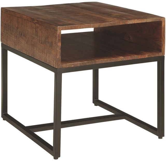 Signature Design by Ashley® Hirvanton Warm Brown End Table-T842-3