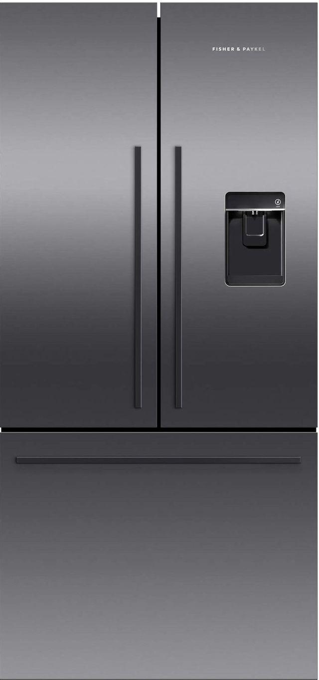 Réfrigérateur à portes françaises de 32 po Fisher Paykel® de 16,9 pi³ - Acier inoxydable noir-RF170ADUSB5