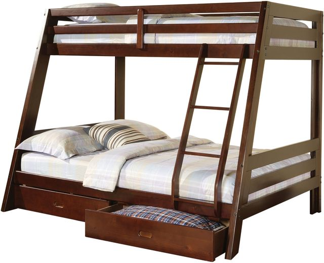 Coaster® Hawkins Youth Cappuccino Twin Over Full Bunk Bed-460228
